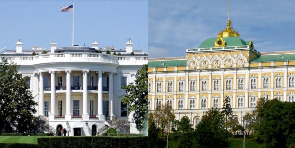 [사진 위키피디아] 미국 백악관(왼쪽)과 러시아 크렘린궁