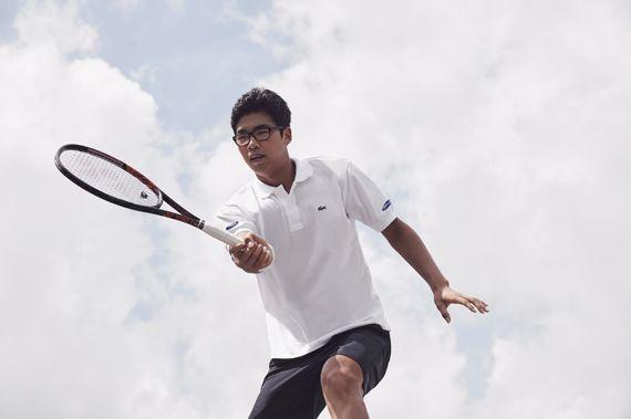 한국 남자 테니스 간판 정현. [사진 라코스테]