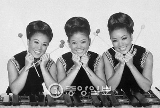 1953년 데뷔해 성공적으로 미국에 안착한 걸그룹 김시스터즈. 왼쪽부터 민자·애자·숙자. [중앙포토]