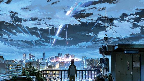 도시 풍경과 빛의 묘사가 돋보이는 신카이 마코토 감독의 '너의 이름은.'. [사진 미디어캐슬]