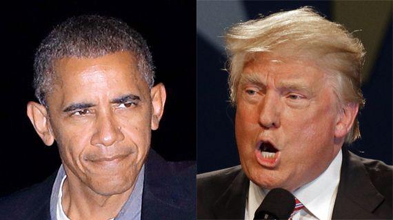 버락 오바마(미 대통령·왼쪽)와 도널드 트럼프(제 45대 미 대통령 당선인).