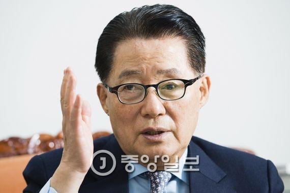 박지원 국민의당 원내대표. 장진영 기자