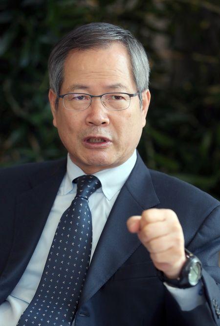 천영우 이사장은 일부 야당의원들의 방중을 매국적 행위라며 강하게 비판했다.[사진 최정동 기자]