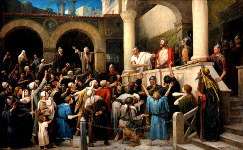 헝가리 화가 문카치의 1881년작 '이 사람을 보라'. 문카치가 그린 '예수 3부작' 중 하나. '예수 3부작'은 1995년에서야 일반에 공개됐다.