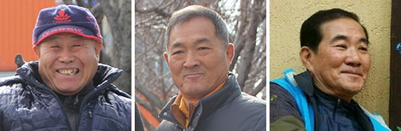 왼쪽부터 차재중, 모준환, 김덕렬.