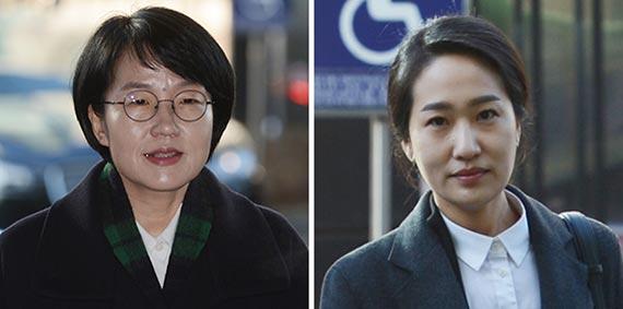 박선숙(左), 김수민(右)