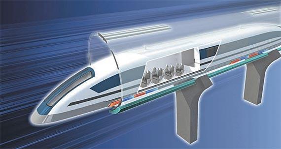 한국철도기술연구원이 7개 기관과 함께 개발할 '하이퍼튜브' 개념도. [사진 한국철도기술연구원]