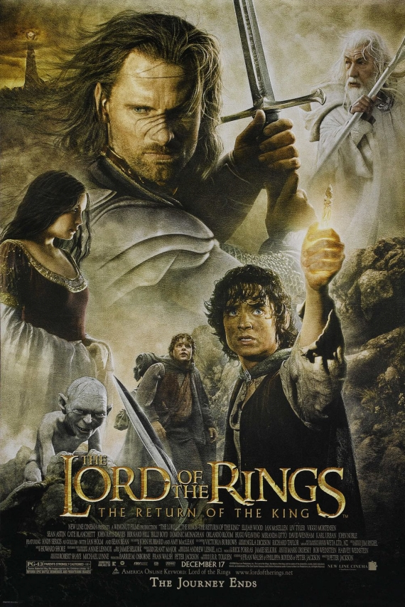 반지의 제왕 삼부작의 마지막 편 '왕의 귀환' 포스터. [사진 마티]