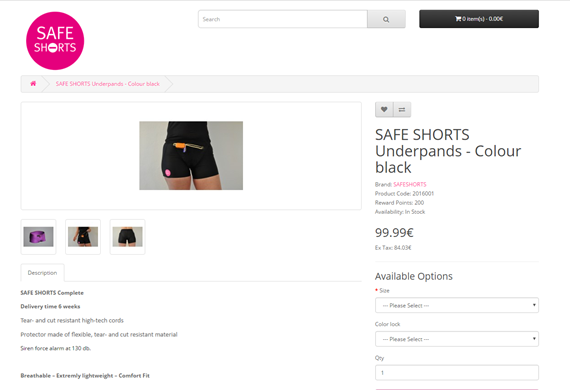 [사진 세이프티쇼츠(Safety shorts) 홈페이지 캡처]