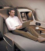 싱가포르항공의 퍼스트클래스 내부. 고객 중심의 프리미엄 서비스가 제공된다.