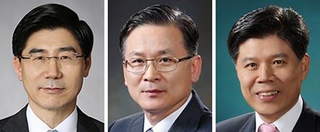 왼쪽부터 이광구, 이동건, 김승규.