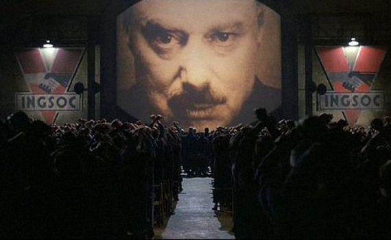 소설 『1984』 를 원작으로 한 영화 '1984'(마이클 래드포드 감독)의 한 장면.