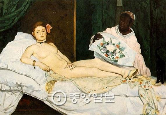 이구영 작가의 '더러운 잠'은 프랑스 화가 에두아르 마네의 '올랭피아' 를 패러디했다. [중앙포토]