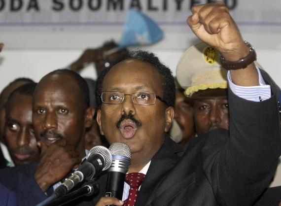 소말리아 새 대통령에 당선된 파르마조 전 총리. [AP=뉴시스]