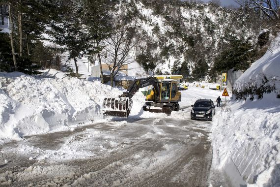 울릉도에 지난 9일부터 눈이 `펑펑`내리고 있다. 12일 오후에도 여전히 눈이 내리고 있다. [사진 울릉군]