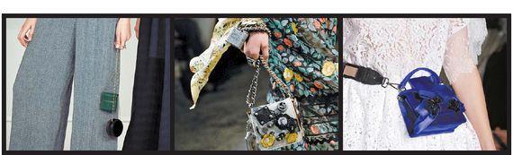 앙증맞은 신상백들. 왼쪽부터 동전 지갑 같은 에르메스 가방, 체인을 팔찌처럼 친친 감아 멋을 낸 코치 핸드백, 스트랩을 밸트처럼 허리에 두른 넘버21의 초미니백. [사진 에르메스, 퍼스트뷰코리아]