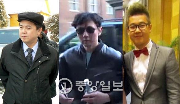 (왼쪽부터) 김평일 주체코북한대사, 김정철, 김한솔