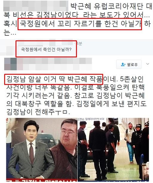 일베 회원이 음모론이라며 비난한 네티즌의 글 [사진 일베 캡처]