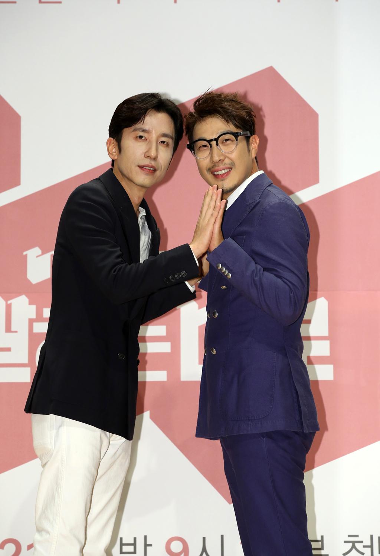 제작발표회 당시 유희열(왼쪽)과 하하. [사진 JTBC]