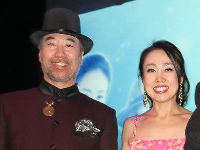 서울 대학로 무대에서 함께 공연하고 있는 주세페 김(왼쪽), 구미코 김씨 부부. [사진 랑코리아]