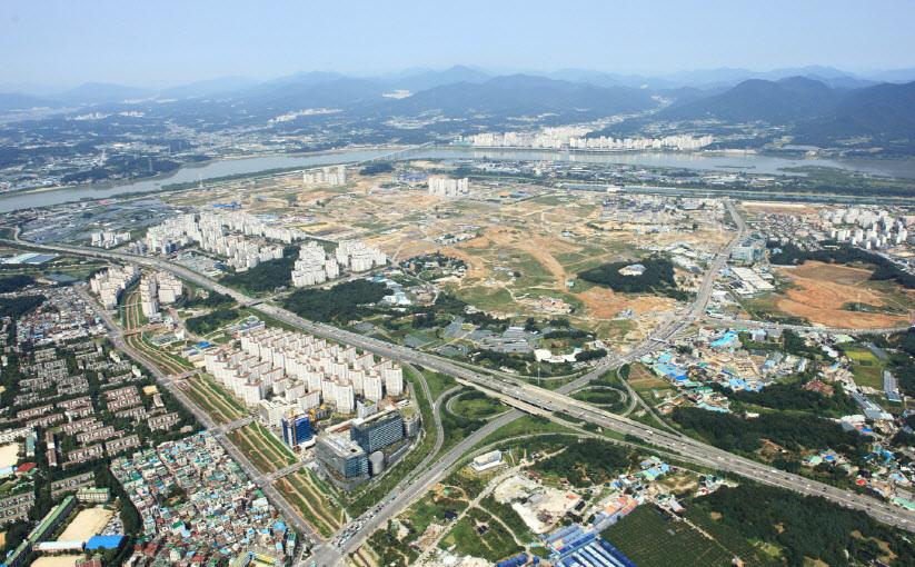 공공분양 아파트가 많은 경기도 하남시 미사지구 전경. [중앙포토]