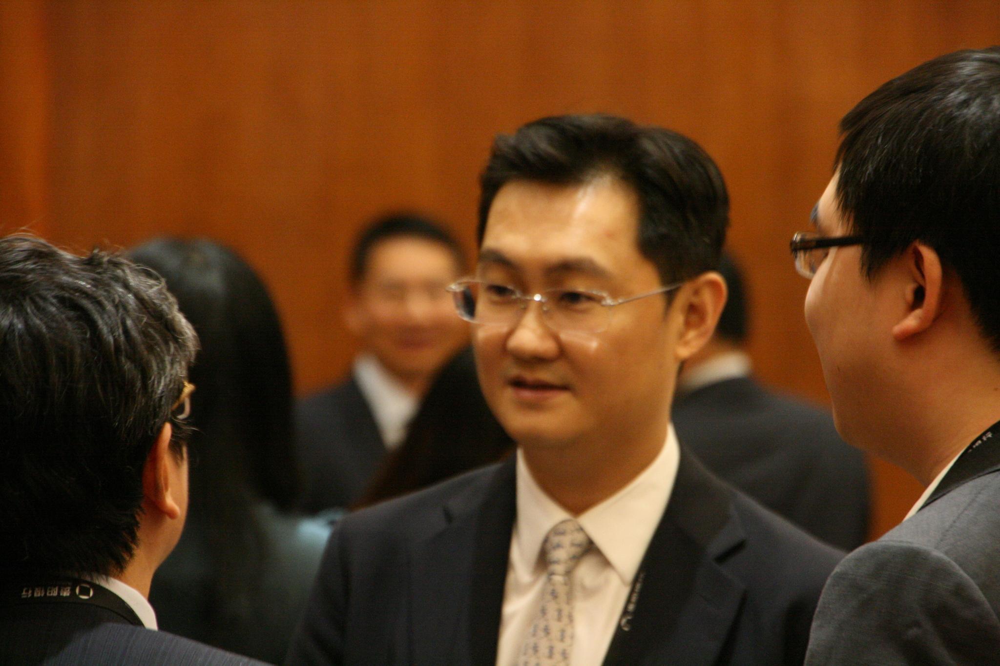 2016 빅데이터 엑스포에 참석한 마화텅 텐센트 회장.
