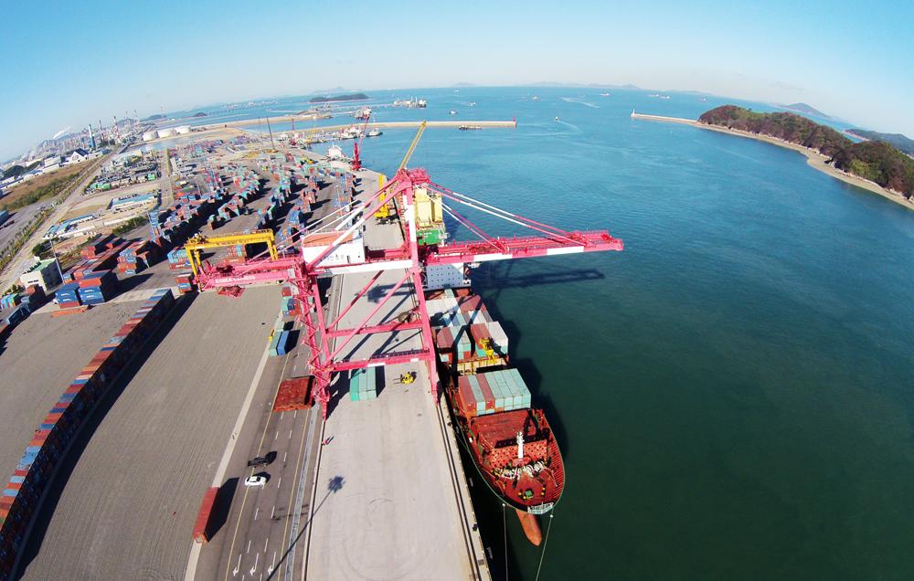중국 룽청(榮成) 항로에 국제여객선이 운항할 충남 서산 대산항 전경. [사진 서산시]