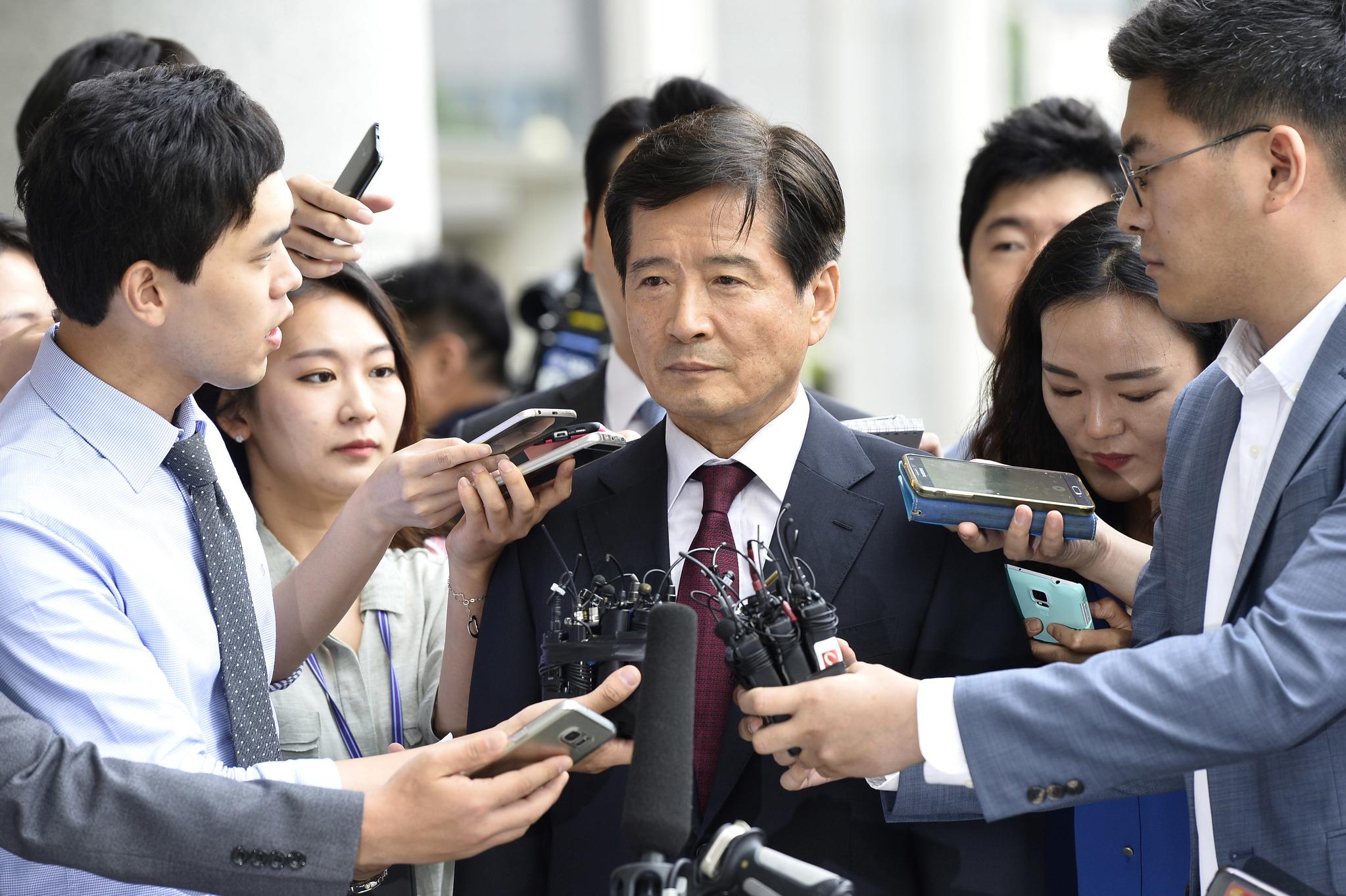 지난해 6월 27일 검찰의 소환 통보를 받고 서울 서초동 검찰청에 출석한 남상태 전 대우조선해양 사장.