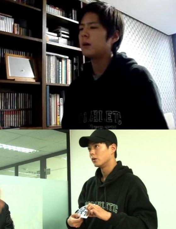7년 전 박보검(위)과 7년 후 '런닝맨'에 출연한 박보검(아래) [사진 유튜브 채널, SBS]
