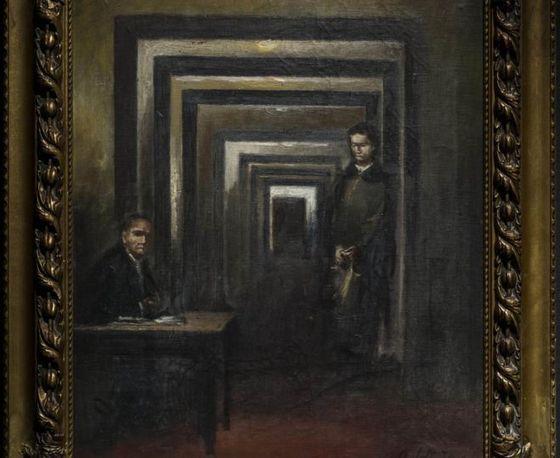 아돌프 히틀러가 직접 그린 그림. 제목은 무제.