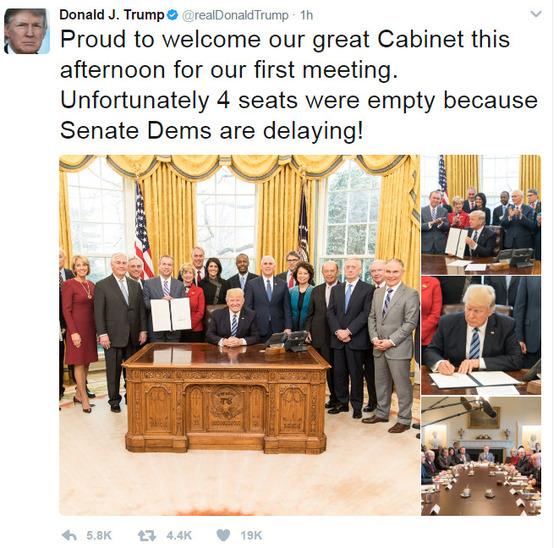 14일 트럼프 대통령이 자신의 트위터에 백악관 모습을 올렸다. [사진 트위터 캡처]