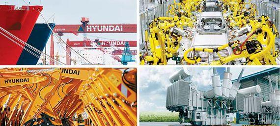 현대중공업이 네 개 회사로 분할된다. 현대중은 조선·해양플랜트·엔진 , 현대일렉트릭&에너지시스템(가칭)은 전기전자, 현대건설기계(가칭)는 건설장비, 현대로보틱스(가칭)는 로봇 사업을 맡는다. [사진 현대중공업]