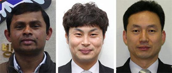 왼쪽부터 니말, 최길수, 김성수.