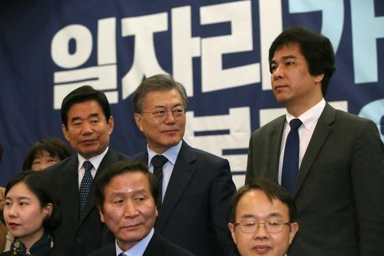 13일 국회 의원회관에서 문재인 전 더불어민주당 대표 측 일자리위원회 출범식이 열렸다. 오종택 기자