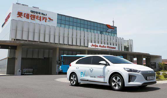 롯데렌터카는 전기차 장기렌터카 상품을 출시했다.