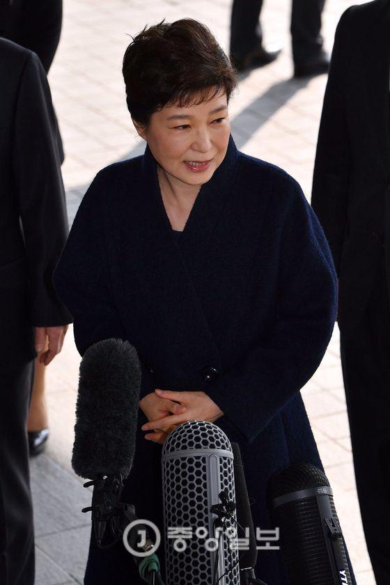 21일 검찰에 출석하는 박근혜 전 대통령