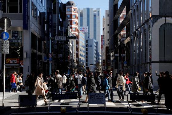 일본 도쿄 긴자 거리. [도쿄 로이터=뉴스1]