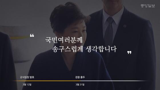 검찰 출석하는 박근혜 전 대통령