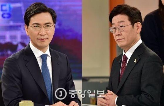 안희정 충남도지사와 이재명 성남시장. [중앙포토]