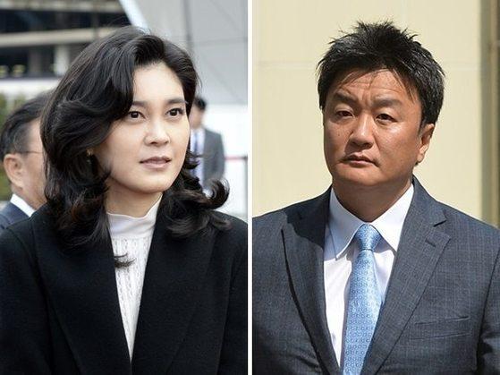 이부진(46·왼쪽) 호텔신라 사장과 이혼 소송을 벌여 온 임우재(48·오른쪽) 삼성전기 고문.
