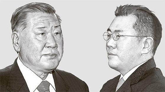 정몽구 회장(左), 정의선 부회장(右)