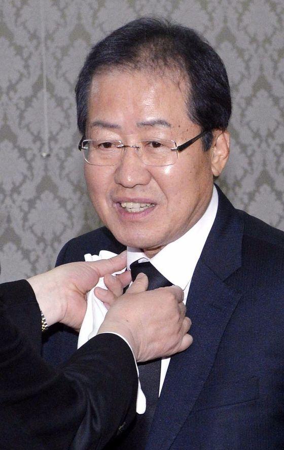 자유한국당 대선경선 후보홍준표경남지사. [중앙포토]