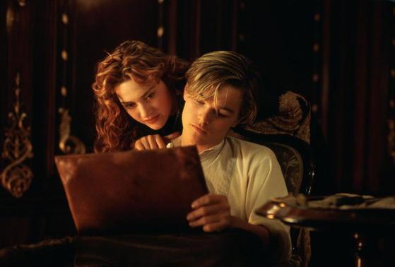 (영화) 타이타닉의 한 장면.