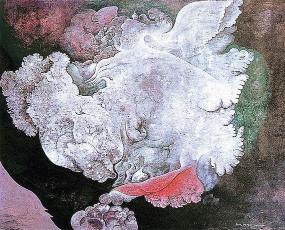서양화가 염성순씨의 작품 '고독'