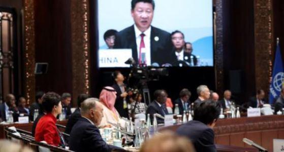 항저우 G20 정상회의에서 발언하는 시진핑 주석 [사진 중앙포토]
