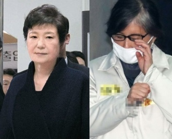 박근혜 전 대통령(왼쪽)과 최순실씨 [사진 공동취재단, 중앙포토]