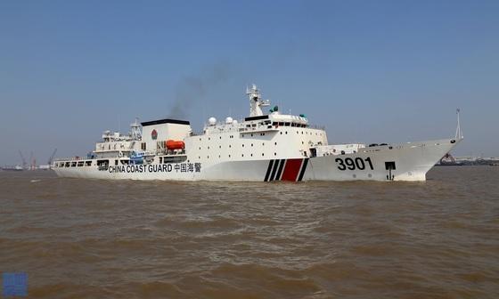 중국 해경(CCG)의 두 번째 1만 톤급 해경 함정 '3901' [출처: China Coast Guard]