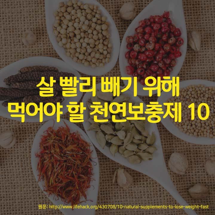 살 빨리 빼기 위해 먹어야 할 천연보충제 10
