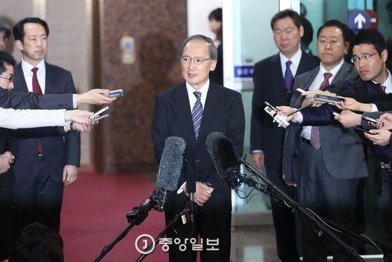 나가미네 야스마사 주한 일본대사가 4일 오후 김포공항을 통해 귀임했다. 장진영 기자