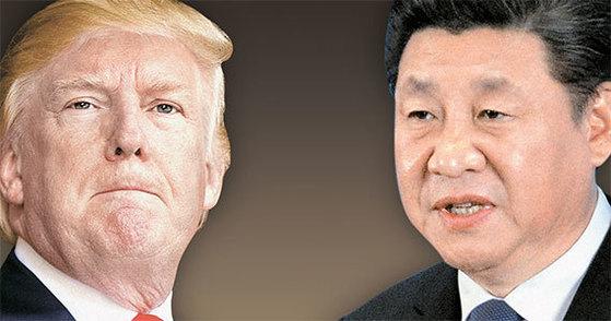 """이번주 트럼프 대통령과 시진핑 주석의 정상회담을 앞두고 미국 상원의원 26명이 """"한국에 대한 중국의 사드 보복 조치를 중단하라""""는 내용의 서한을 트럼프 대통령에게 보냈다. [중앙포토]"""